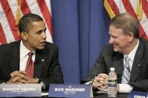 Obama et Rick Wagoner