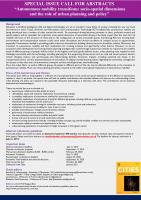 Call for abstracts - poster