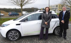 """Anne-Marie Idrac, """"Haute Responsable pour la stratégie nationale de développement des véhicules autonomes"""", en visite à Satory"""